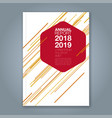 cover annual report 950 vector image vector image