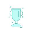 cup trophy award icon design vector image
