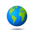 earth globe icon on white background vector image vector image