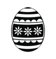 easter egg black simple icon vector image vector image