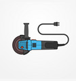 electric angle grinder flat style image vector image vector image