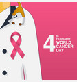 february world cancer day concept vector image vector image
