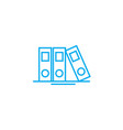 file folder linear icon concept file folder line vector image