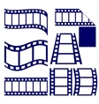 film strip icon set vector image