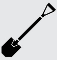 Flat shovel icon vector image vector image