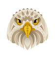 flat style of eagle face vector image