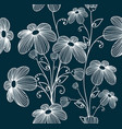 florals seamless pattern background vector image