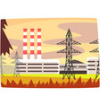 fossil fuel power station energy producing plant vector image vector image