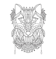 Fox Pattern style zentangl vector image