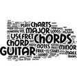 free guitar chord charts text background word vector image vector image