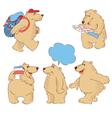 funny cartoon polar bears vector image