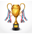 Golden award trophy and ribbon vector | Price: 3 Credits (USD $3)