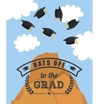 Graduation cap and mountain icon University vector image vector image
