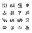 heavy industry signs black thin line icon set vector image vector image