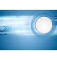 Hi-tech blue background vector image vector image