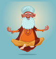 indian guru yoga grandfather in asana vector image