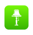 kitchen lamp icon green vector image vector image