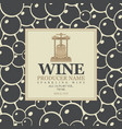labels for sparkling wine with backdrop grapes vector image