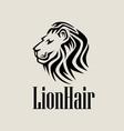 LionHair Logo vector image vector image