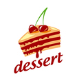 Logo cake with two cherries