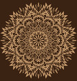 mandala brown background vector image