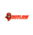 motorcycle biker outlaw retro vector image vector image