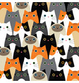 pattern with cute cats idea vector image vector image