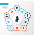 person icons set collection of gentlewoman head vector image vector image