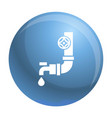 plastic water tap icon simple style vector image