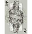 Queen Spade vector image vector image