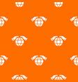 safe planet pattern orange vector image vector image