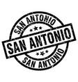 san antonio black round grunge stamp vector image vector image