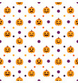 seamless halloween pattern withpumpkins vector image