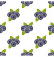 seamless pattern with blueberries and leaves vector image vector image