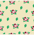 seamless pattern with flowers - floral pattern vector image