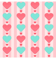 Seamless pattern with many hearts on a pink vector image vector image