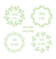 set floral wreathes vector image
