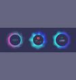 set futuristic ui ux circle bar vector image