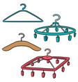 set of hangers vector image