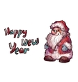 sketch of Santa Claus Christmas vector image vector image