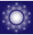 Snowflake design Frame background vector image