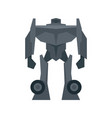 soldier robot transformer icon flat isolated vector image vector image