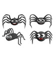 spider icon set cartoon style vector image