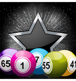 star bingo ball background vector image vector image