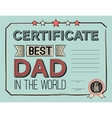 template certificate congratulations for fathers vector image