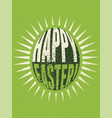 typographical grunge easter greeting card vector image vector image