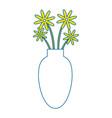 Vase with flowers icon