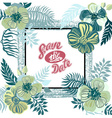 Vintage inspired summer tropical flowers and vector image