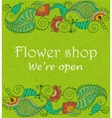 Vintage signage for flower shop vector image vector image