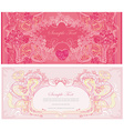 Vintage style Valentine Day Card Set vector image vector image